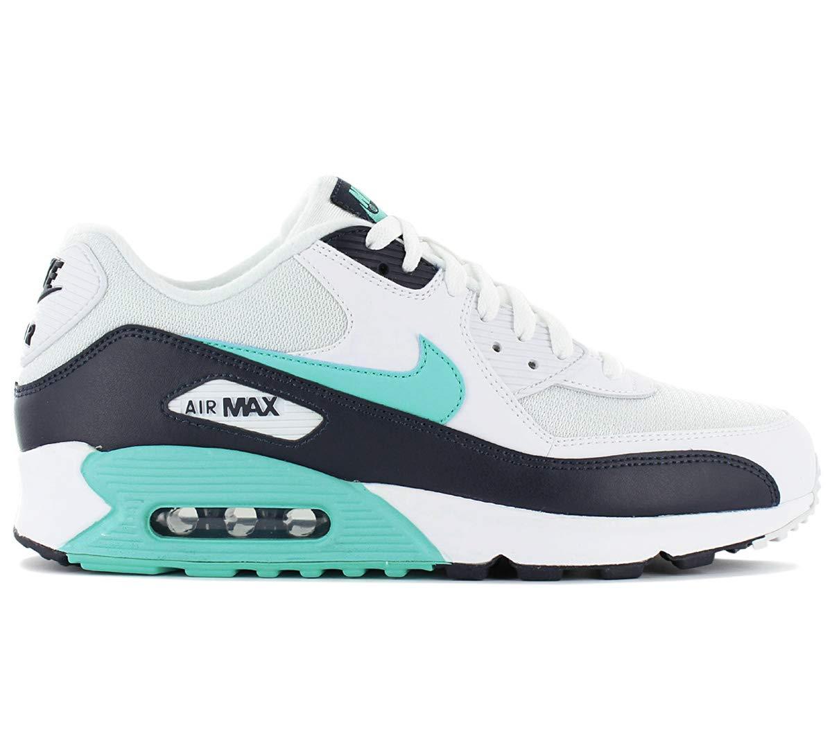 Nike Mens Air Max 90 Essential Running Shoes WhiteAurora GreenObsidian AJ1285 102 Size 8.5