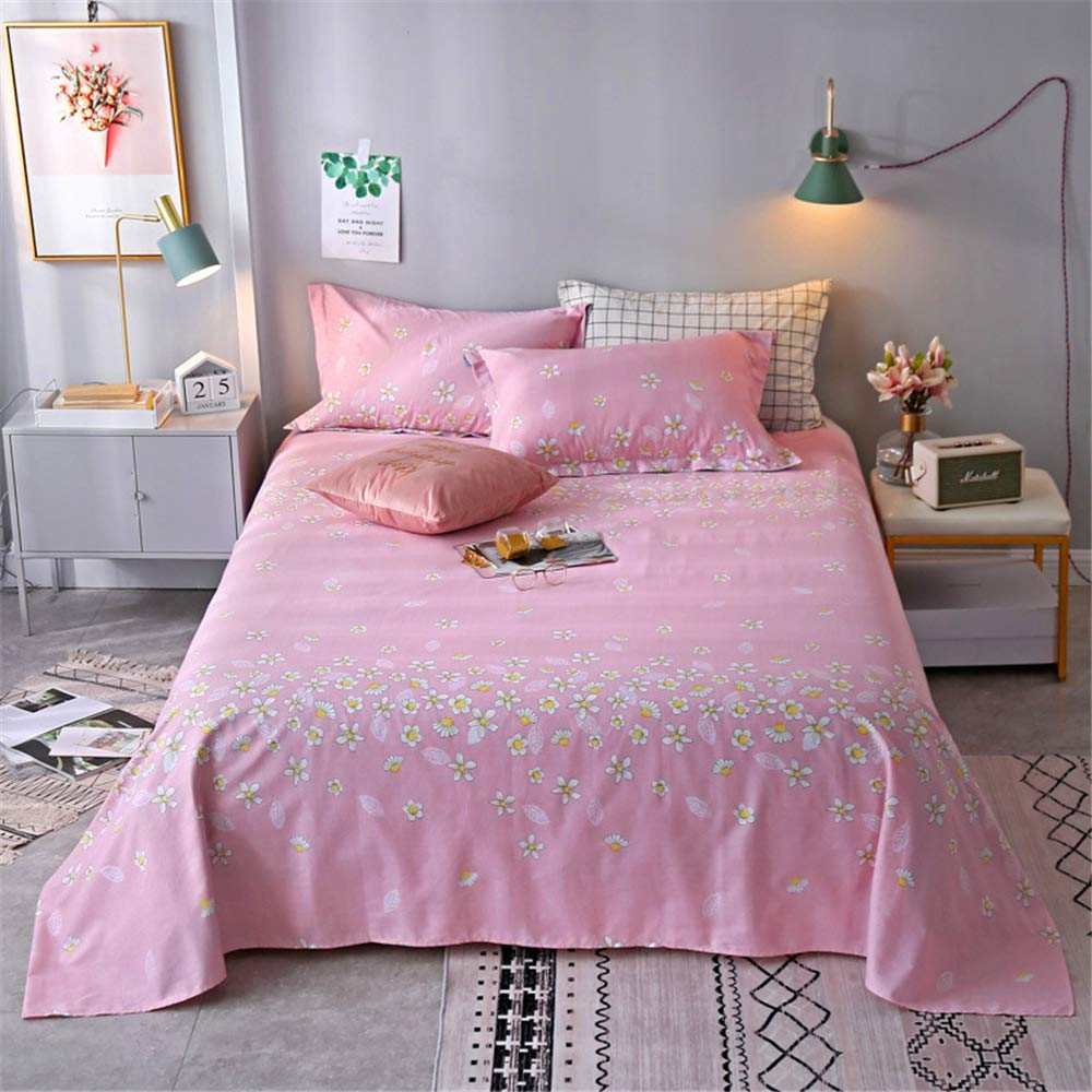 Single Piece of Cotton Sheets Printed Cartoon Cotton Non-Slip Twill Quilt Single Single Student Dormitory can be Customized Cherry Blossom Powder 120230cm by iangbaoyo