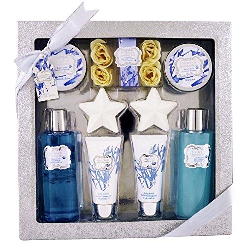 Gloss! Box Sparkling Bath Bliss - Fiori di Cotone - 8pcs - scatola regalo, regalo per le donne Universal Beauty Market HY16F115-SILVER