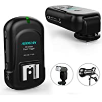 GY16-2 KONNWAN Wireless Flash Trigger Transmitter and Receiver 16 Channel Wireless Remote FM Flash Speedlite Radio Trigger with Receiver for Flash Units with Hot Shoe