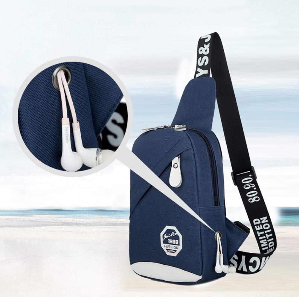 PrettyAll Men's Shoulder Bag Sling Backpack, Multipurpose Crossbody Shoulder Bag Travel Hiking Daypack (Blue, L17W8H26) by PrettyAll Bag (Image #3)