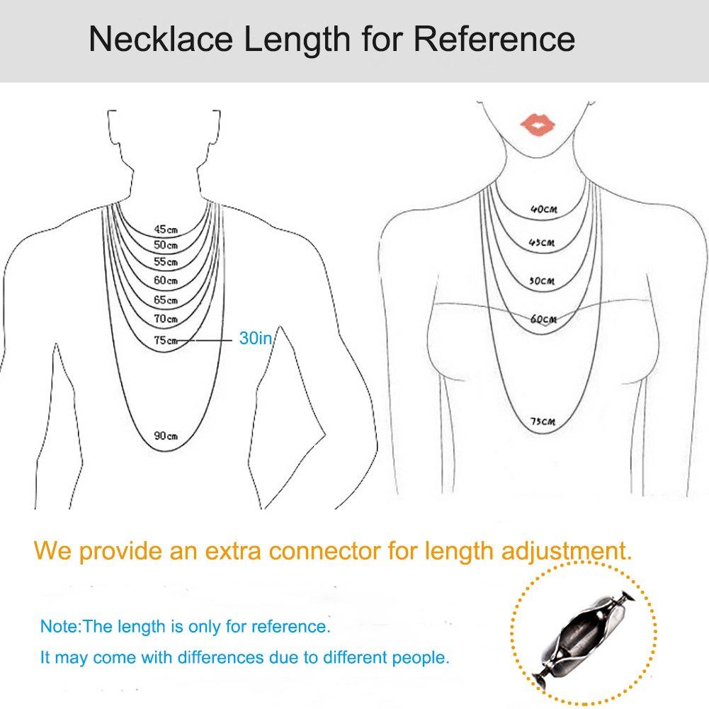 mit Geschenkverpackung Kugelkette f/ür M/änner und Frauen Halskette mit Anh/änger aus reinem Titan 2.4mm bead -30