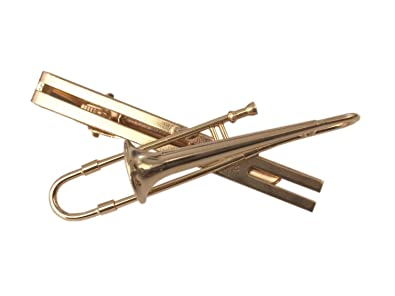 Image Unavailable. Image not available for. Colour  Trombone Tie Clip ... 8260c32bd