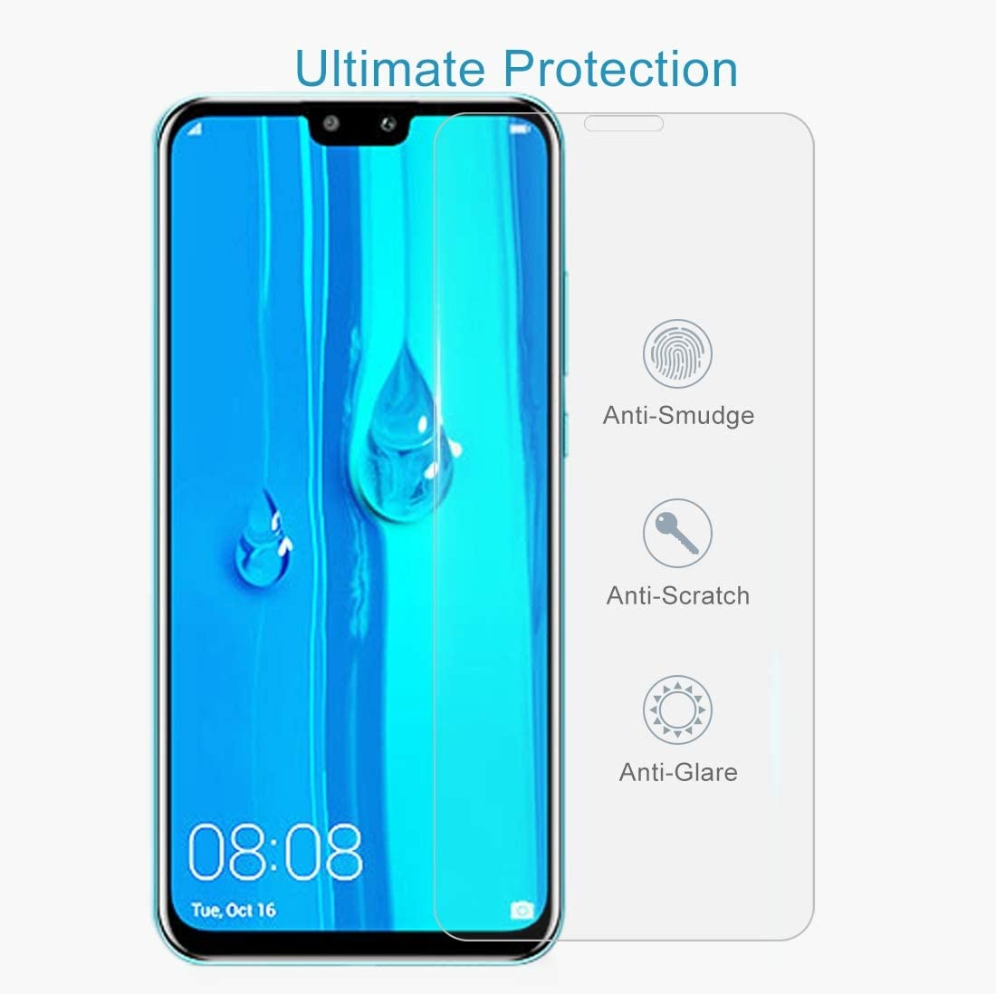 2019 XHC Screen Protector Film 100 PCS 0.26mm 9H 2.5D Explosion-Proof Tempered Glass Film for Huawei Y9 // Enjoy 9 Plus Tempered Glass Film