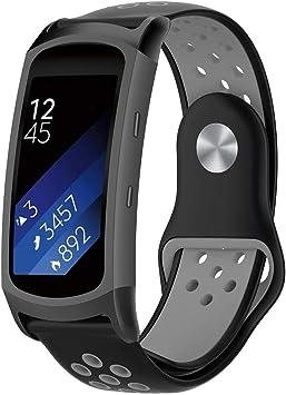 AOLVO - Correa de Silicona para Reloj Samsung Gear Fit2 Pro SM ...