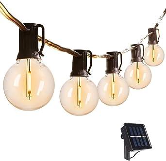 Guirnalda Luces Exterior Solar,VIFLYKOO cadena de luz LED con 25 bombillas iluminación impermeable IP44,utilizada para jardín terraza árbol patio decoración de fiestas en el hogar: Amazon.es: Iluminación