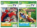 LeapFrog LeapTV Active Video Learning Toys - 2 Game Value Pack Bundle: Kart Racing Supercharged! and Ultimate Spiderman
