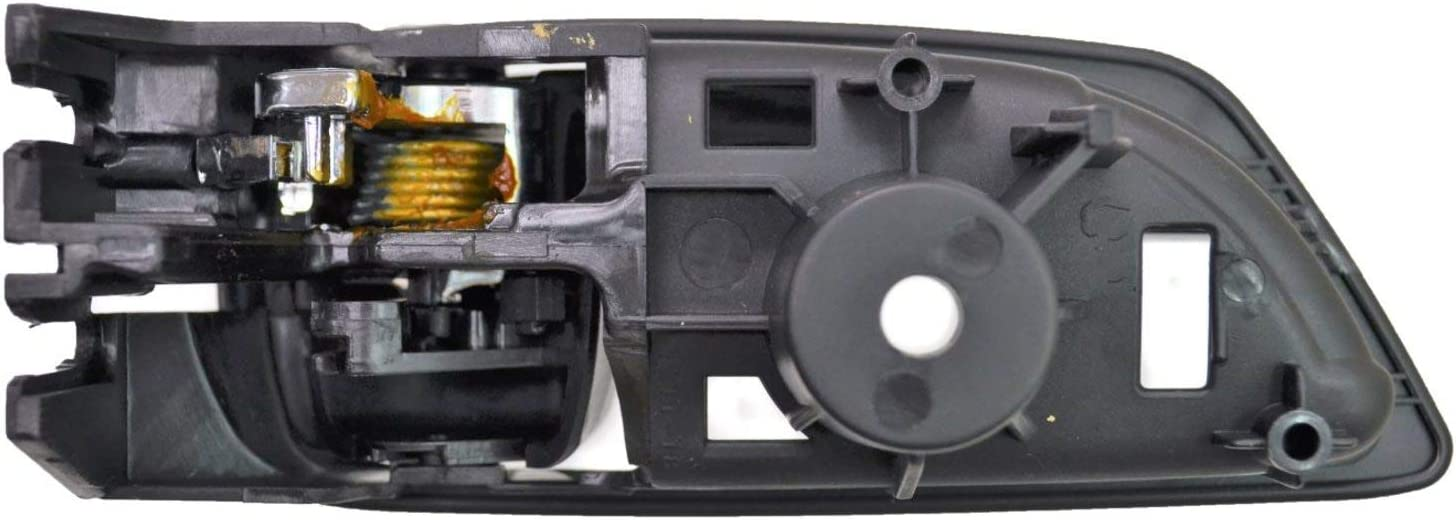 Chrome Lever with Black Housing Interior Inner Inside Door Handle PT Auto Warehouse LX-2250MA-RL Rear Left Driver Side