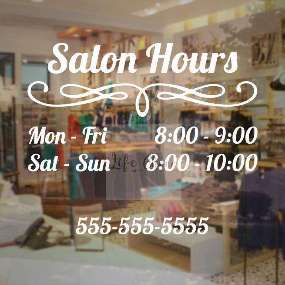 Yyoutop Custom Salon Work Hour Etiqueta de la Pared Salon de ...