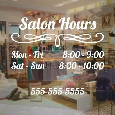 Yyoutop Custom Salon Work Hour Etiqueta de la Pared Salon de ...