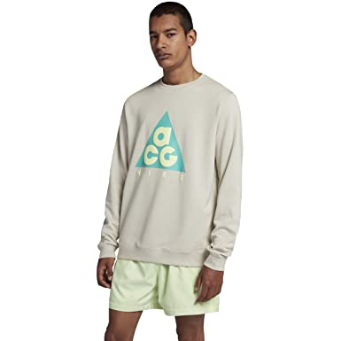 baa609a8 Amazon.com: Nike ACG Men's Crew Top (Light Bone/Hyper Grape/Barely Volt,  Large): Clothing