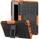 "Maomi AMZ flre 7"" (2017 Release) Case,[Kickstand Feature],Shock-Absorption/High Impact Resistant Heavy Duty Armor Defender Case for AMZ flre 7 inch 2017 Tablet (Orange)"