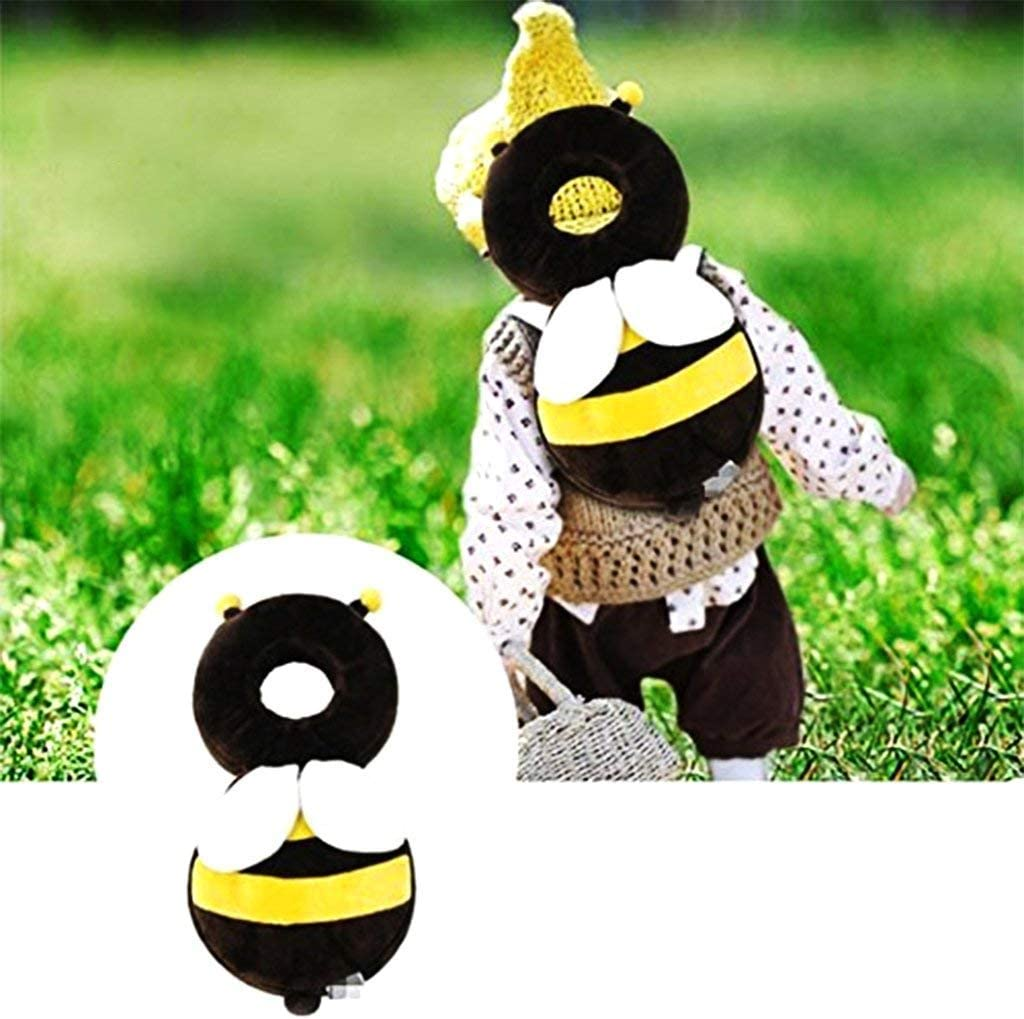 Yellow Creative and Useful Fliyeong 1 Pcs Baby Head Protection Pad Anti-Fall Bee Modeling Headrest for Kids Walking Protective
