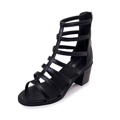Bride Jitian Talons Carrés Chaussure Sandales Cheville Femmes kiuPOXZ
