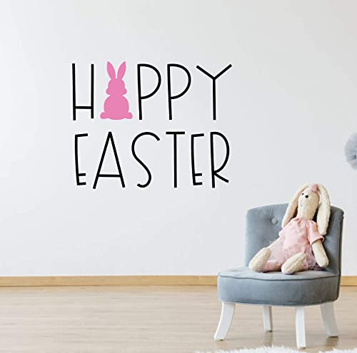 Cut Vinyl Decal//Sticker Personalised Easter Bunny Name Design 4