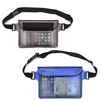 39953310be0 Waterproof Pouch,Rixow Waterproof Case Bag with Adjustable Waist Strap for  Beach