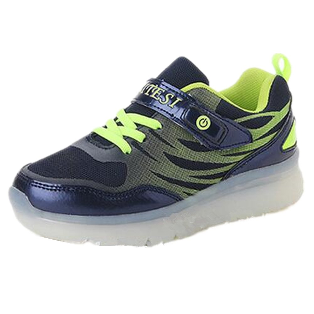 A2kmsmss5a Kid Boy /& Girl 7 Color Light Up USB Charging LED Light Sport Shoes Flashing Sneakers for Gift