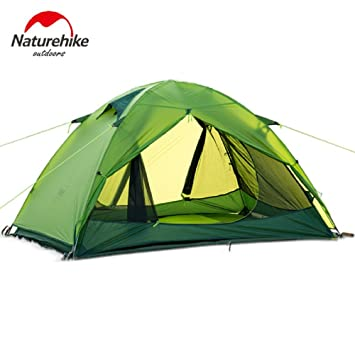 NatureHike Ultralight 2 Person Tent Travel C&ing Tent 20D Silicone Fabric NH15Z006-P (Green  sc 1 st  Amazon.com & Amazon.com : NatureHike Ultralight 2 Person Tent Travel Camping ...