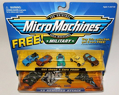 Micro Machines Armored Attack #3 plus 5 Bonus Vehicles Military Collection