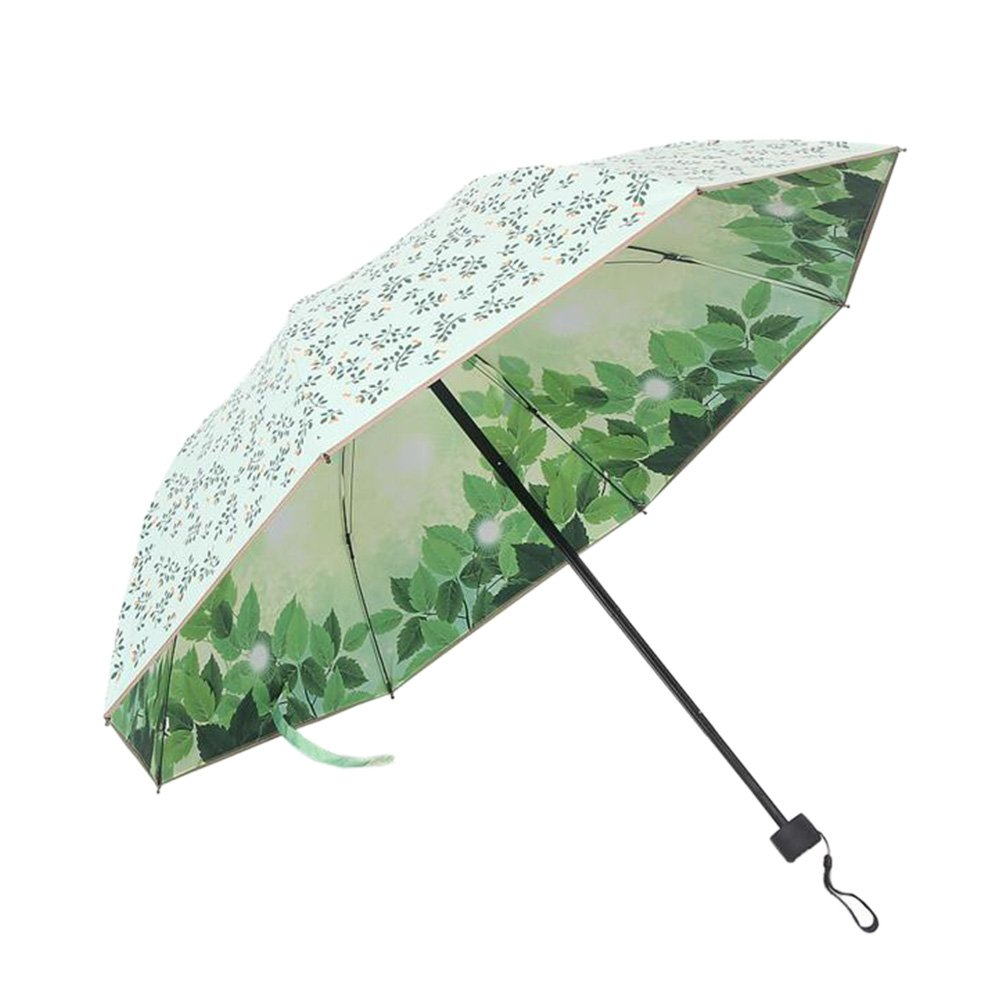 ファッショナブルな折り畳み傘double-deck UV保護傘アウトドアパラソル# 15   B072LW54MR