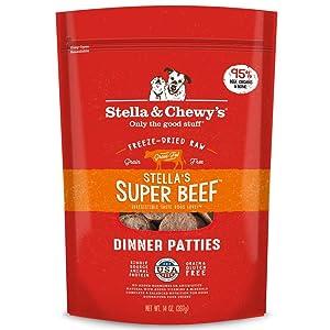 Stella & Chewy's Freeze-Dried Raw Stella's Super Beef Dinner Patties Grain-Free Dog Food