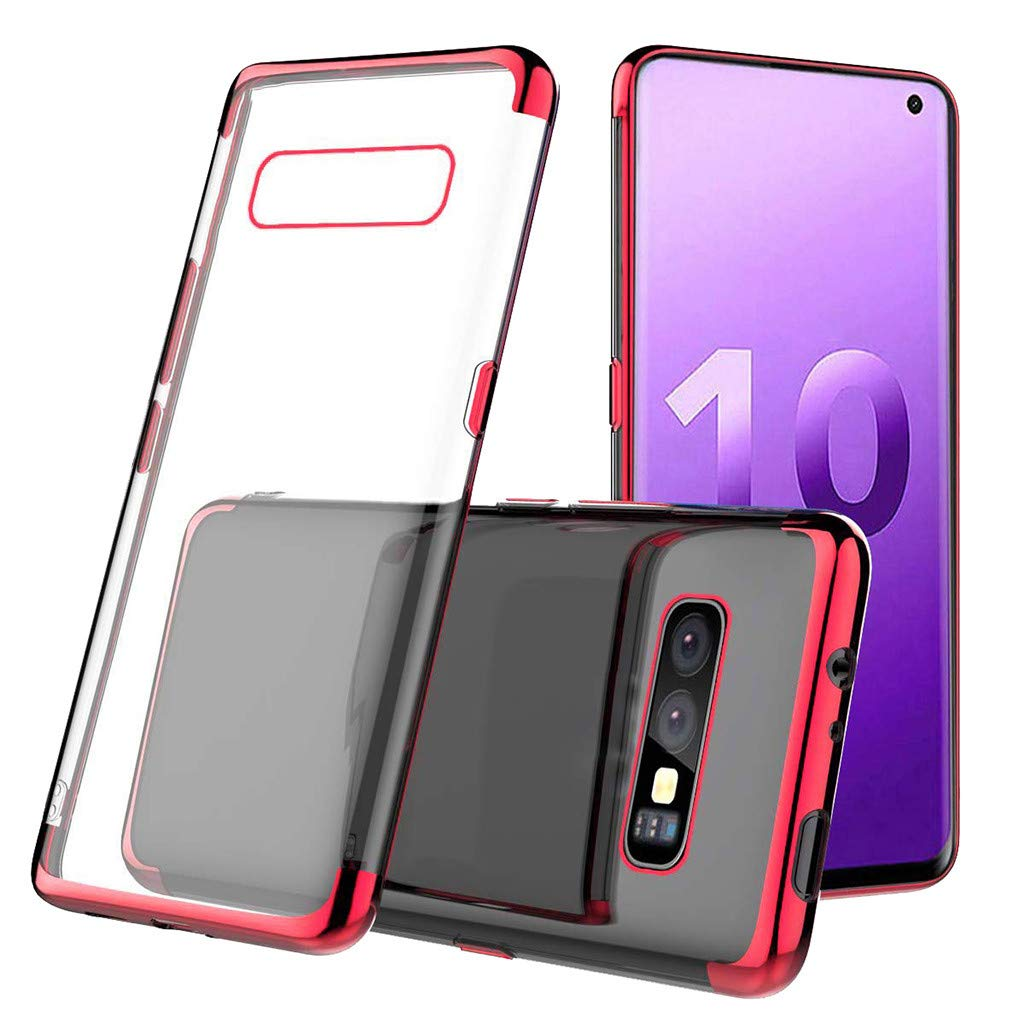 Waterproof-Case-with-Built- Screen-Protector,For Samsung-S10e -5.6inch-Clear-Case,Shock-proof-Protective-TPU-Gel Cover (Red)