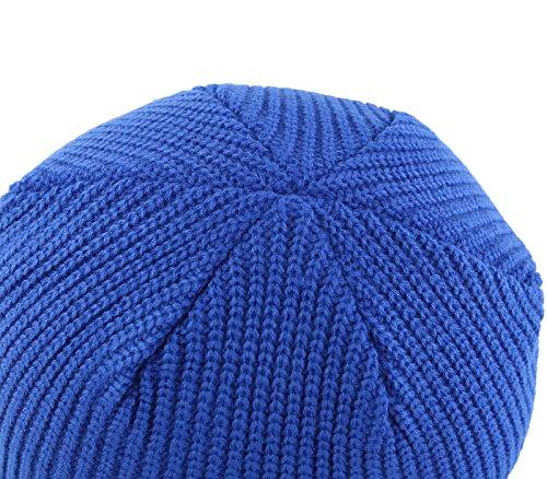 Connectyle Outdoor Men Hats Knit Cuff Beanie Cap Blue,