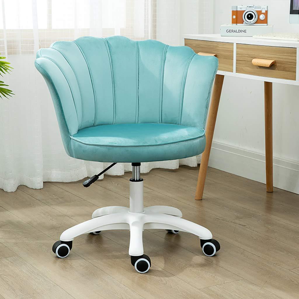 GAOPANG sammet kontorsstol ergonomisk svängbar stol datorstol för hem kontor mottagningsstol justerbar Ljusblått