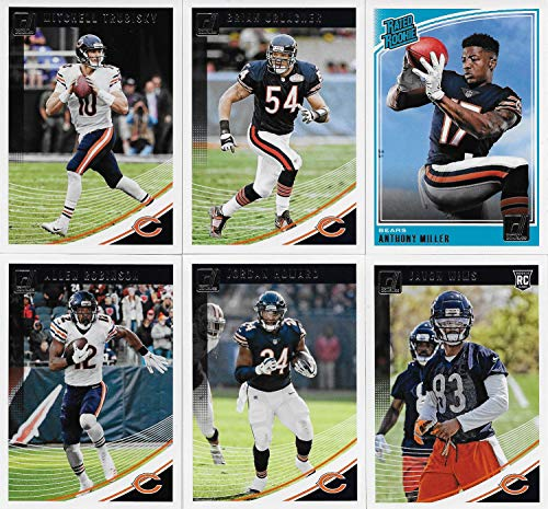 - Chicago Bears 2018 Donruss NFL Football Complete Mint 11 Card Team Set with Mitchell Trubisky, Brian Urlacher and Rookie cards of Anthony Miller and Roquan Smith plus