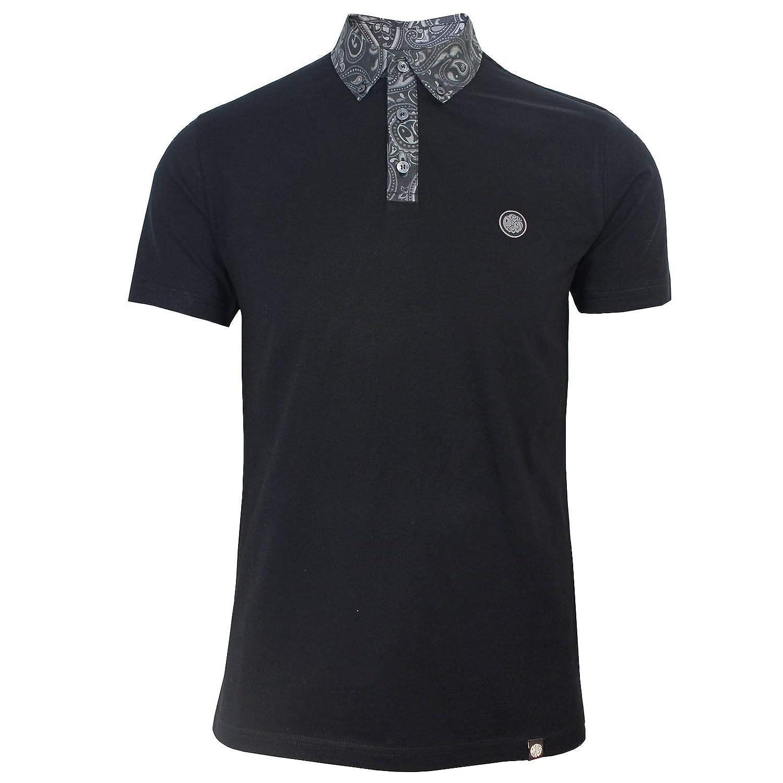 ee02f5ec2b1 Pretty Green Mens Black Rosler Polo Shirt 2XL  Amazon.co.uk  Clothing