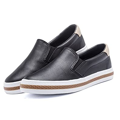 9447cfa990128 Womens Casual Slip On Loafers Comfortable Breathable Shoes Walking Flat  Sneakers (Women s 5.5 6