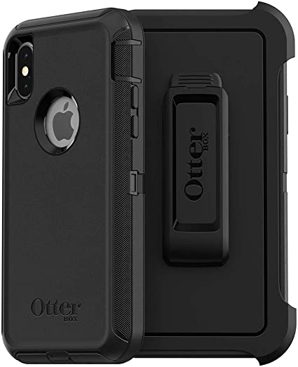 OtterBox 77-61663 Serie Defender Custodia per Apple iPhone X / Xs, Nero
