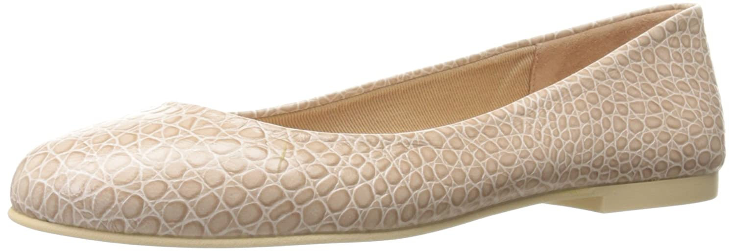French Sole FS/NY Women's Radar Ballet Flat B01N7RNQU6 8.5 B(M) US|Nude Crocodile Print