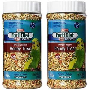 Kaytee Forti Diet Pro Health Orange Blossom Honey Bird Treats for Parakeets, 10-Ounce - 2 Pack 29