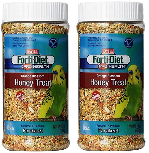 Kaytee Forti Diet Pro Health Orange Blossom Honey Bird Treats for Parakeets, 10-Ounce - 2 Pack by Kaytee