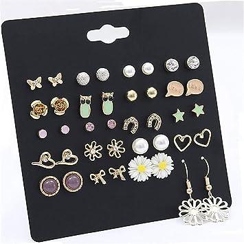 Frauen 1 Paar Eule Form Kristall Ohrstecker Hochzeitsgeschenk Ohrringe SchmuckPD