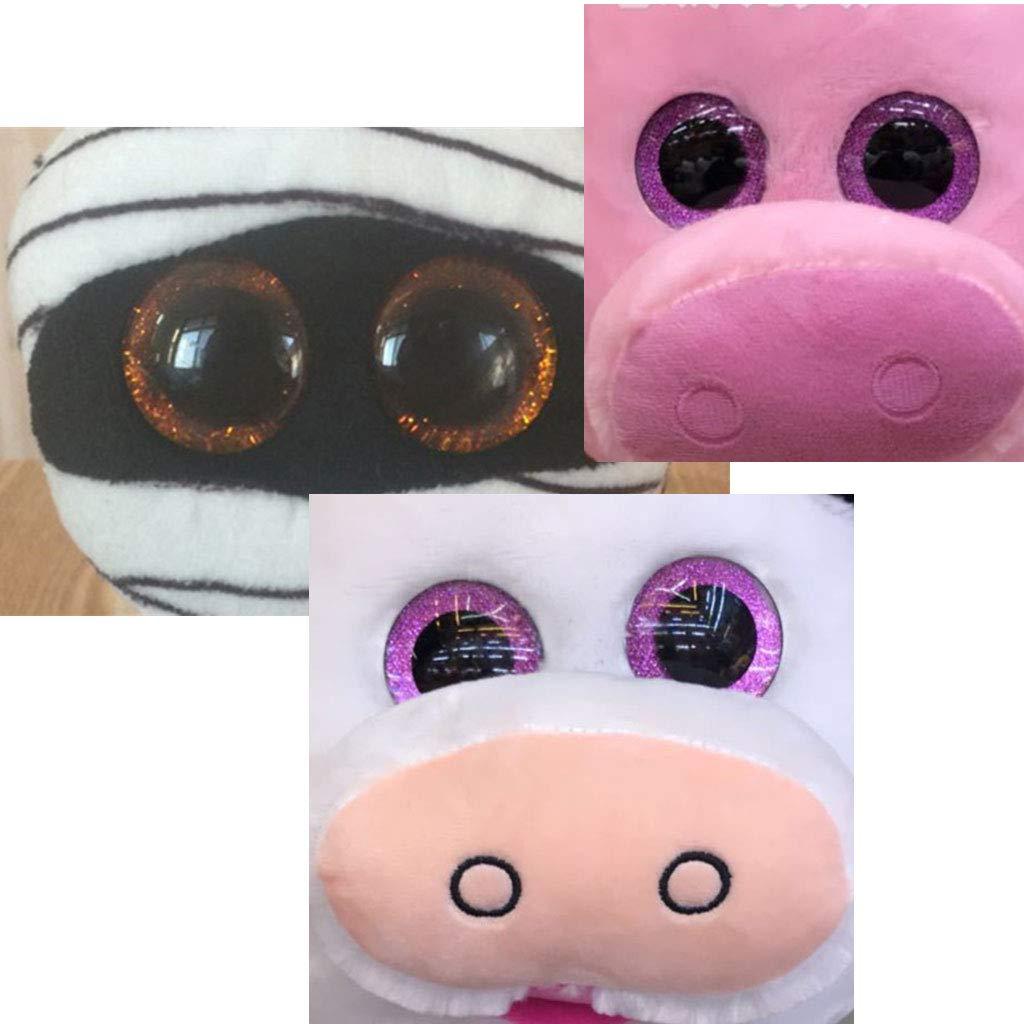Ojos de seguridad para amigurumi mu/ñecas t/ítere oso de peluche animal de peluche(Azul claro) MIsha 10 Piezas 20mm Ojos de seguridad de pl/ástico Ojos brillantes