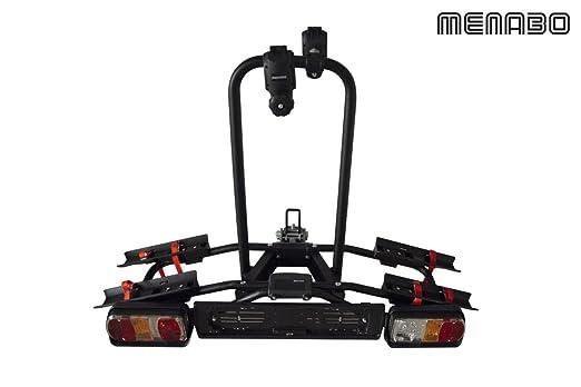 Menabo Naos Tilting Portabicicletas AHK para 2Â ruedas plegable: Amazon.es: Coche y moto