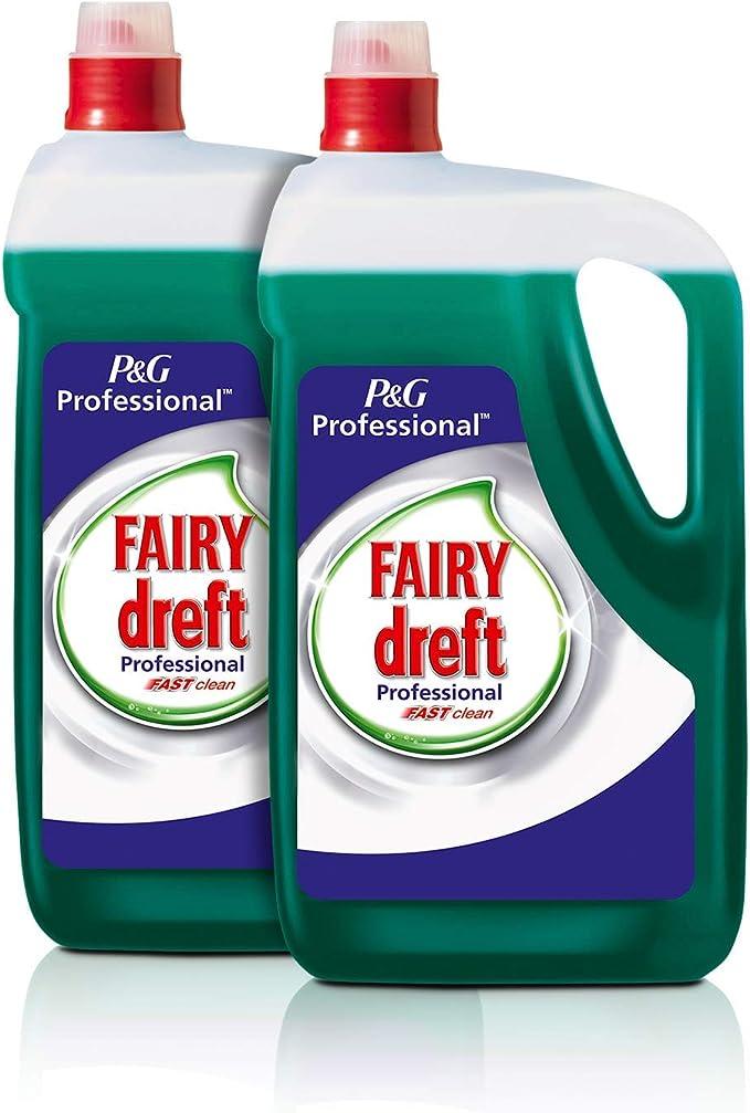 Fairy Profesional Lavavajillas Líquido Fast Clean - 10L (Pack 2 x ...