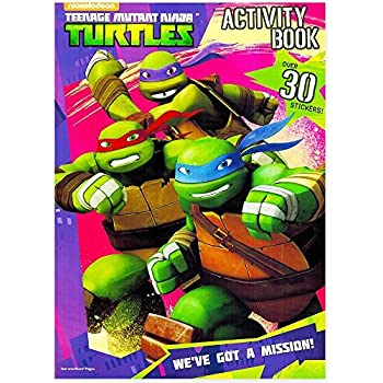 teenage mutant ninja turtles coloring and activity book set with stickers 3 tmnt coloring books - Ninja Turtles Coloring Book