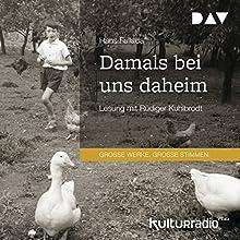 Damals bei uns daheim Hörbuch von Hans Fallada Gesprochen von: Rüdiger Kuhlbrodt