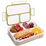 Bento Lunch Box for Adults with Fork - SubClap 3 Compartment Leak-Proof Lunch Container, Microwave Dishwasher & Freezer…