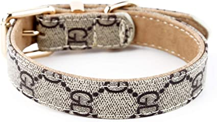 SuperBuddy Dog Collar Genuine Leather Adjustable Pet Collar for Large,Medium,Small,Dogs