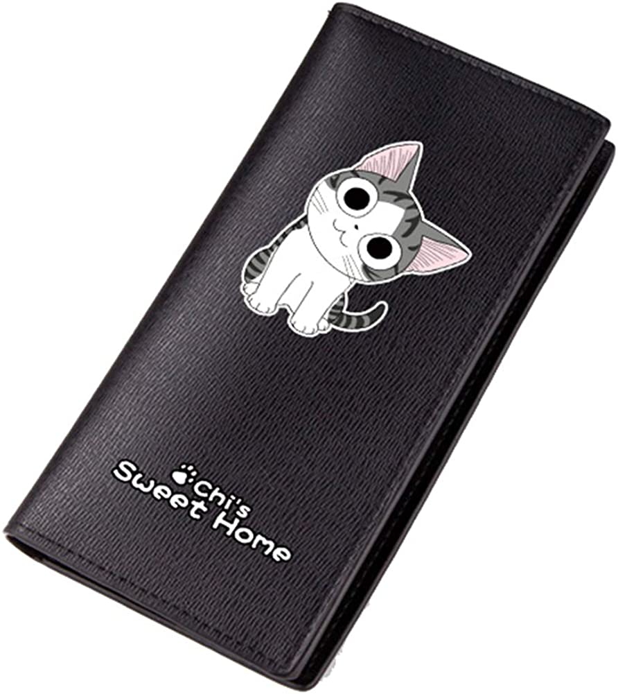 Gumstyle Chi's Sweet Home Men's Artificial Leather Wallet Black Billfold Anime Printing