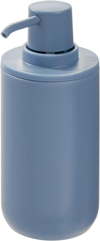 iDesign Cade Plastic Pump, Liquid Soap Dispenser Holds 12 Oz. for Bathroom, Kitchen Sink, Vanity, Dusty Blue