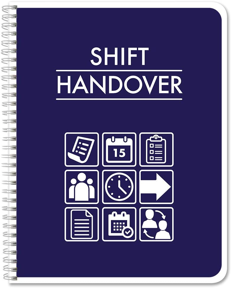 "BookFactory Shift Handover Book/Shift Swap Log Book/Logbook - 100 Pages, 8.5"" x 11"" (LOG-100-7CW-PP(ShiftHandover)-BX)"
