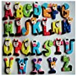 Dreamyth 26pcs Wooden Cartoon Alphabet A-Z Magnets Child Educational Toy