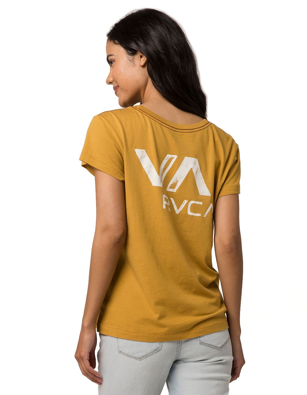 RVCA VA Ink Pocket Tee, Yellow, Large