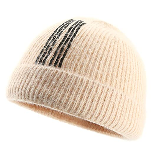 TININNA Sombrero Beanie de Punto Gorras Otoño Invierno Cálido ...