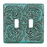 Turquoise Tooled Leather Southwestern